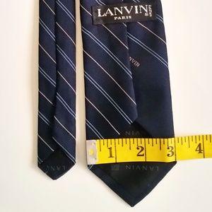Lanvin Accessories - Lanvin Paris Navy Silk Tie